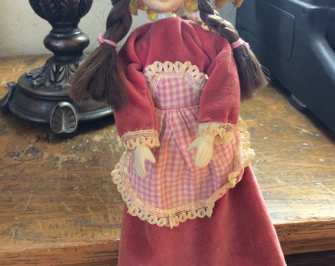 Vintage Uneeda DC doll,  Heidi Uneeda doll made in Hong Kong, 1950's Heidi doll, Doll collector, rare Uneeda doll, vintage doll collector