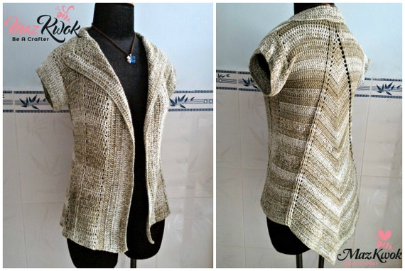 Crocheted Mountain Ridge cardi - free worldwide shipping