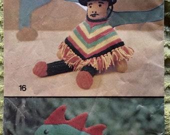 1973 Women's Weekly supplement knit crochet toys babywear