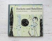 Vintage Rockets and Satellites Book . Vintage Book . Let's Read And Find Out . Children . Science . Branley . Sokol . First Edition . 1961