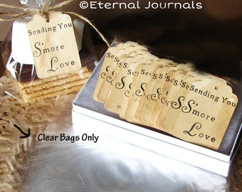 30 - 300 Clear Plastic BAGS ONLY You Select Amount To Go With Sending You S'more Love Tags Purchased Separately. 4x8x2 Wedding Favors. DIY