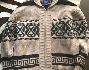 "Vintage Men's Pendelton Sweater ""The Big Lebowski"" Style"