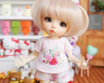 "Lati Yellow/ Puki Fee - Short Pant - ""Soft Air"" - PinkFloral"
