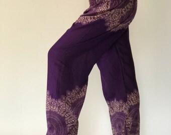 SM0065 Thai Genie Pants Comfy Trouser, Gypsy Pants Rayon Pants,Aladdin Pants Maxi Pants Boho Pants