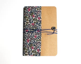 Liberty of London Emilia - school supplies pattern a6 notebook