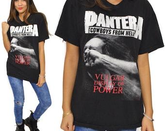 Vintage 90s Pantera Vulgar Display of Power T Shirt Sz L