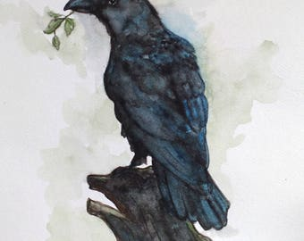 Raven (original watercolor)