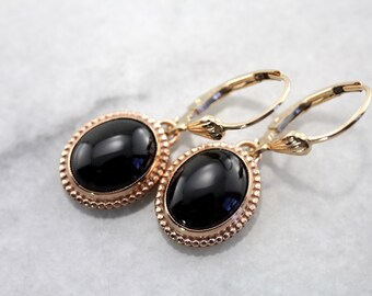 Sleek Black Onyx Drop Earrings, The Emma Earrings from The Elizabeth Henry Collection 5QJD0H-P
