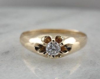 Antique Diamond Ring in Belcher Setting EDT636-R