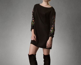 Estyn- Mod Sleeved Mini Dress