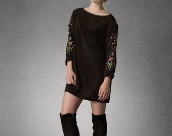 Estyn- Mod Sleeved Mini Dress