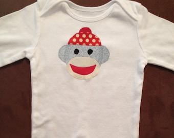 Sock Monkey Baby Onesie