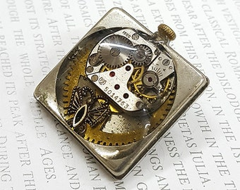 Steampunk Butterfly Brooch- -Watch Part Brooches- Vintage Butterflies Jewelry Gift for Steampunk Loving Friend