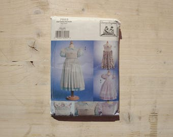 UNCUT Vogue patterns 7593 Children's dress and pinafore Teresa Layman designs