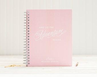Wedding Journal Wedding Planner Book Engagement Journal Wedding Planner Wedding Binder Wedding Guide personalized spiral journal blush pink