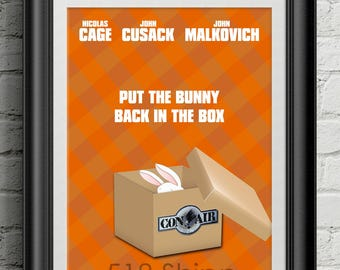Con Air - Put The Bunny Back In The Box Nicolas Cage John Cusack Art Print Wall Decor Inspirational Poster Motivational Movie Quote