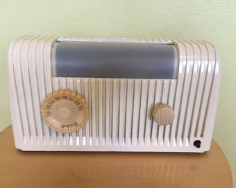 1954 Mitchell Lullaby Bed Lamp Radio, Elec Restored