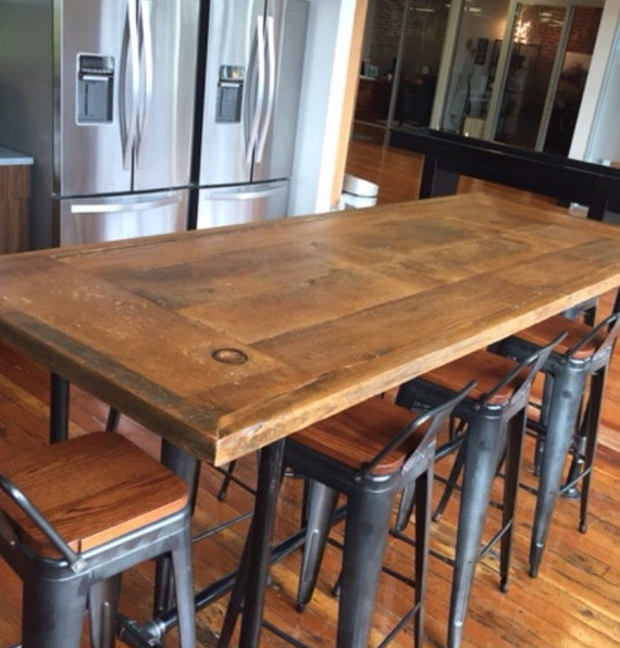 Reclaimed Wood Dining Table Industrial Pipe By