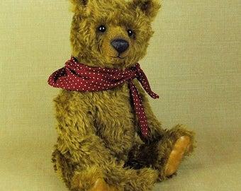 Mohair artist teddy bear  Wilkins Brasslewood