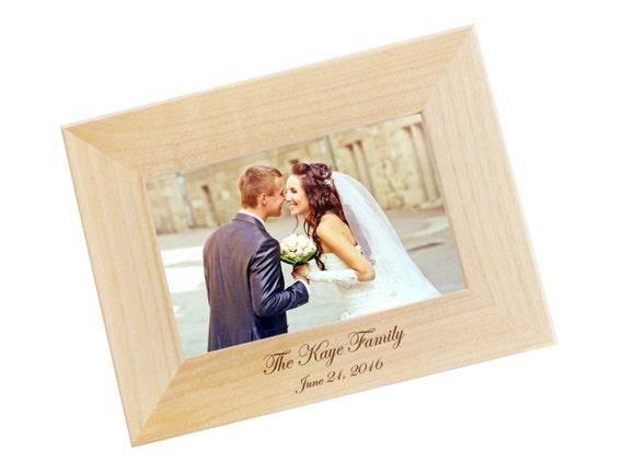 Engraved Wooden Wedding Photo Frames : FAST, Engraved Wood Photo Frame, Family Photo Frame, Personalized ...