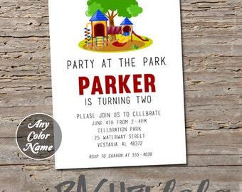 Park, birthday invitation, digital print, printable