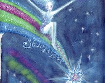 Star Dancer Original Watercolour Painting