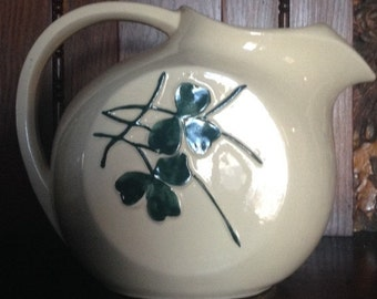 McCoy Pottery Pitcher with Embossed Cloverleaf