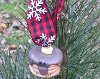 Lumberjack Christmas Ornament, Pancake Christmas Ornament, Lumberjack Christmas Ornament, Pancake Lumberjack Ornament, Lumberjack Christmas