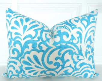 Aqua Pillow Cover - Lumbar Pillow 12 x 16 - Aqua Blue Pillow - Aqua Throw Pillow - Small Throw Pillow - Aqua Blue Accent Pillow