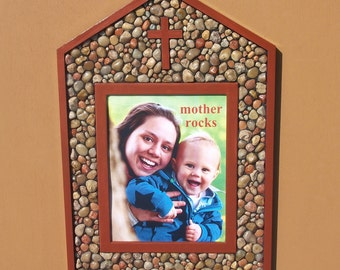 """House Cross 8"""" x 10"""" picture frame"""