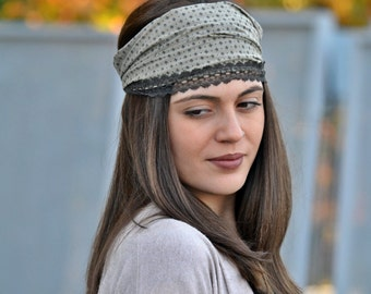 Viscose Headband, Rhombus Turban, Bohemian Headband, Hair Accessories, Womens Accessories, Womens Turban, Womens Headband, Vintage Headbands