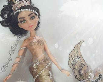 OOAK Custom Re-paint McKeyla McAlister Mc2 Doll Angel Fish Mermaid