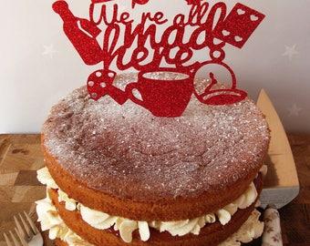 Alice in Wonderland Cake Topper, Alice in Wonderland Cake Decoration, Alice in Wonderland Cake Decor, Mad Hatter, Alice in Wonderland