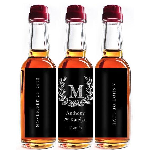 Custom Liquor Mini Bottle Favors Personalized Labels Wedding
