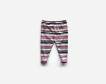 Striped Baby Leggings / Toddler Leggings / Child Leggings / Infant Leggings / Baby Girl Pants / Baby Shower Gift / Cuffed Legging
