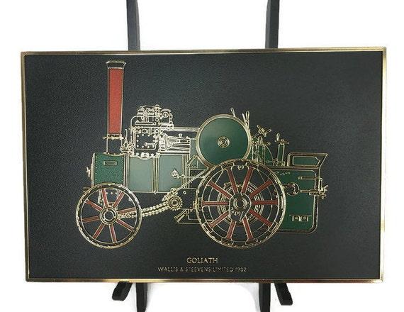 Goliath steam tractor plaque plastic Wallis and Steevens commemorative