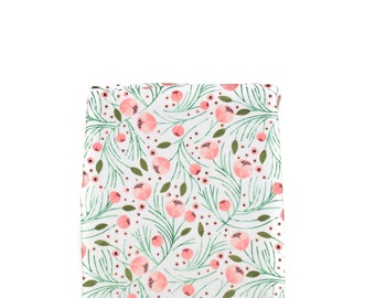 Winter Floral Changing Pad Cover, Minky Changing Pad Cover, Floral Changing Pad Cover, Girl Changing Pad Cover, Coral Changing Pad Cover
