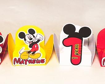 48 Forminhas Mickey Minnie para brigadeiro, mickey minnie truffle holder, chocolate candy wrapper, mickey minnie cake pop holder