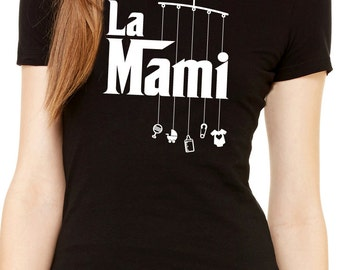 la mami the mommy with mobile toys women's shirt