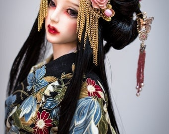Sayuri (syn mohair wig for bjd SD, MSD, Tiny, Fashion)