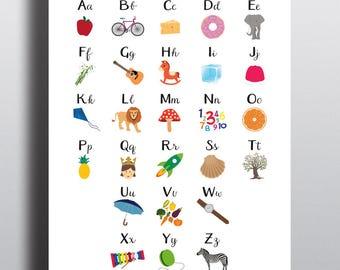 Alphabet children's poster 'Alphatory'