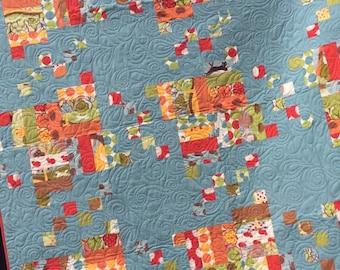 Queen size  quilt, double bed quilt, queen bedding, modern patchwork quilts,  handmade quilts,