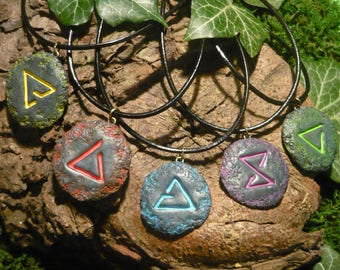 The Witcher - handmade Sign Amulet - Quen Igni Aard Yrden Axii