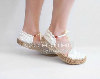 Crochet pattern - women ballerina slippers with jute rope soles,soles pattern included,women sizes,loafers,shoes,adult,girl,espadrilles,teen