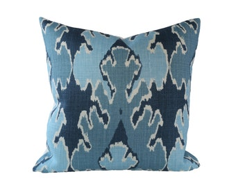 READY TO SHIP - 17x17 Kelly Wearstler Bengal Bazaar Designer Pillow Cover in Teal