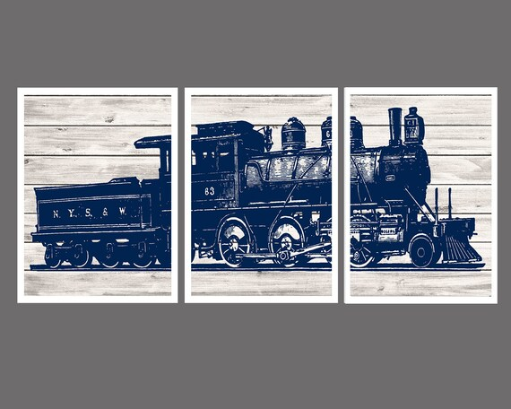 Train Wall Decor Boys Bedroom Decor Train Decor Train Wall