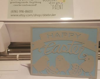Baby Chick Cut Out Easter Card