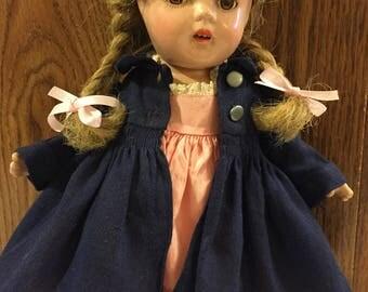 "Vintage Madame Alexander McGuffey Ana/ all original/ 13"" tall"