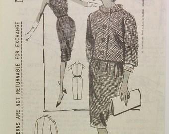 Vintage Mail Order Spadea N1057 Designer Pattern (c. 1961) Shannon Rodgers for Jerry Silverman, Size 10, Pre-Cut Pattern, Spadea Patterns