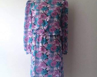 Gorgeous Vintage 'Charlee Allison' Floral Dress